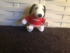 Met Life Snoopy in a red shirt