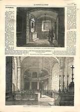 La Conciergerie Cachot Marie-Antoinette PARIS FRANCE GRAVURE ANTIQUE PRINT 1869