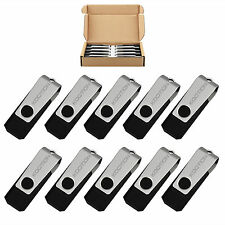 Lot of Ten 4GB Swivel USB 2.0 Flash Drive Thumb Pen Drive Rotating Memory Stick