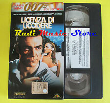 film VHS cartonata JAMES BOND 007 LICENZA DI UCCIDERE FABBRI connery (F37)no dvd