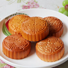 Artificial Simulation Fake Food Plastic Kitchen PU Moon Cake SS
