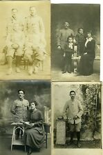 LOT  8 Carte - Photo MILITAIRES famille enfants circa 1900 1920