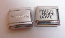 FAITH HOPE LOVE 9mm Italian Charm +1x Genuine Nomination Classic Link N257 I YOU