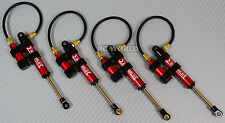Axial SCX10 Jeep Honcho METAL PiggyBack SUSPENSION SHOCKS 110MM RED(4 pcs)
