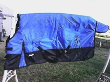 "75"" blue 420 D Tough 1 medium lightweight waterproof horse turnout blanket"