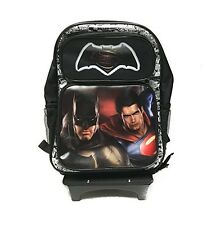 "Batman Vs Superman School 16"" Backpack Book Bag with Detachable Rolling/Trolley"