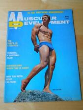 MUSCULAR DEVELOPMENT bodybuilding muscle magazine/MIKE DAYTON w/poster 8-69