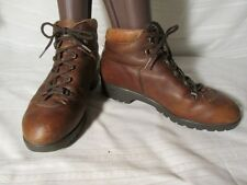 E1587 Raichle Brown Leather Hiking Vintage Lace Up Boots Women's 7