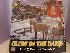 """1000 PIECE PUZZLE ---GLOW IN THE DARK---""""HOME FOR CHRISTMAS"""""""