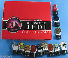 RUBBER STAMP STORE DISPLAY '83 vtg Star Wars Adam Joseph 12 Stamps Included!