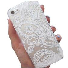 Fashion Henna White Floral Flower Plastic Case Cover Skin for iPhone SE/5S