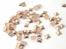 Pyramid Shape Nailhead Bucket Hot Fix Iron On Metal Studs BUY 1 GET 1 FREE