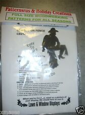 COWBOY  ON FENCE  SILHOUETTE woodworking pattern, plan (PATTERNSRUS)