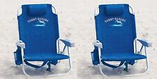 2 Tommy Bahama Backpack Cooler Beach Chairs Blue New !!!