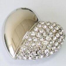 Chiavetta USB 4 GB Strass Cuori Ciondolo Gioiello Coeur Cle Corazón Collana
