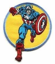 CAPTAIN AMERICA run EMBROIDERED IRON ON PATCH marvel comics avengers shield 3350