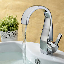 Contemporary Bathroom Sink Faucet Waterfall Brass Chrome Basin Taps High quality