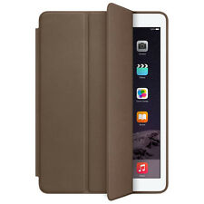 For iPad Air 2 Genuine Leather Smart Case Cover Slim Wake Dark Brown Original