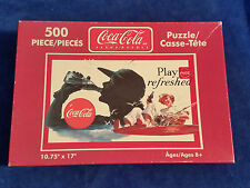 """COCA COLA COKE PUZZLE NORMAN ROCKWELL 500 PIECES PLAY REFRESHED 10.75""""x17"""""""
