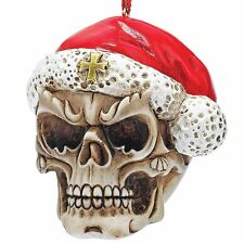 Skull Skeleton Santa Christmas Tree Ornament Holiday Xmas Medieval Gothic Decor