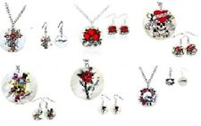 12 Jewelry Set Ed Hardy Mother Of Pearl Necklace & Earring 6 Different Designs