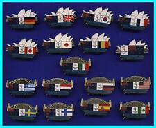 TR 17# * SYDNEY 2000 OLYMPIC GAMES * Sydney Icon Host Flag ( Seventeen Pin Set )