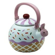 Strawberry Cupcake Whistling Tea Kettle Heavy Gauge Stainless Steel by Supreme