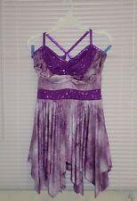 A Wish Come True Sequin Purple Tie Dye Shorty Dance Dress Costume Size LA