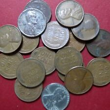 *CIRCULATED, Mixed LOT of 18 Vintage  LINCOLN WHEATCENTS, Coin Lot #1