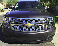 2015-2016 Chevy Suburban chrome mesh grille grill bentley insert overlay LS LT