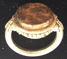Roman SEAL RING Sterling Silver Ancient 100-200 B.C.