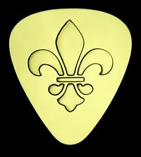 Fleur-de-Lis - Solid Brass Guitar Pick, Acoustic, Electric, Bass