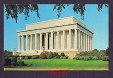 LMH Postcard  LINCOLN MEMORIAL White Marble Temple WASHINGTON DC Sculpture PE-61