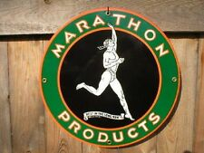 MARATHON PORCELAIN COATED METAL SIGN