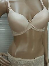 Bra Panty Set Push Up Skin Golden ColorBra Padded Wired & Transparent Boy short