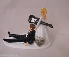 Wedding Party Reception Cake Topper Band Music Black Guitar Rock & Roll