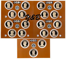 Complete Presidential dollar 2012 - 2016 S Proof set (each president) 19 coins