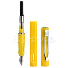 Classic JINHAO 599 Yellow Student Fountain Pen extra fine Nib Hot