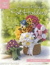 Flower Bouquet Pot Handle Holders Crochet Instruction Patterns Annie's Attic NEW