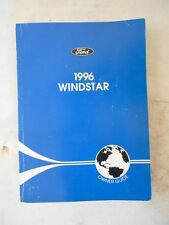 1996 FORD WINDSTAR FACTORY COMPLETE OWNERS MANUAL ORIGINAL OEM