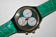 1991 Vintage Swatch Watch CHRONO SCB-107 ROLLERBALL Free Battery & New Band