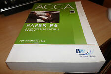 ACCA - PAPER P6 ADVANCED TAXATION FA2007 - USED - VERY CHEAP!