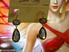 NEW KIRKS FOLLY Drop Pierced Earrings (Goldtone/ dark Opal)
