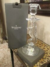 PRETTY WATERFORD LEAD CRYSTAL SEAHORSE CANDLESTICK 11.5 NEW IN BOX LQQK