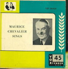 MAURICE CHEVALIER EP USA SINGS