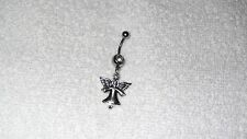 Angel Charm Belly Button Navel Ring Body Jewelry Piercing 14g