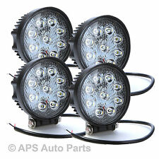 4 x 27W LED Flood Beam Work Light Lamp Tractor Excavator JCB Case 12V 24V Round