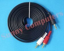AUX 3.5mm Male to 2 RCA 2RCA Male Audio Adapter Stereo Headphone Cable Cord 3M