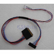 "25cm 40pin 1ch 6 bit LVDS Cable For 7/8/10.1/11.6/14/15.6"" LCD/LED Panel Display"