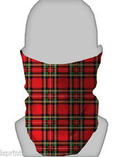 ROYAL STEWART TARTAN RED SNOOD NECKTUBE NECKWARMER FACE MASK BIKER PAINTBALLING